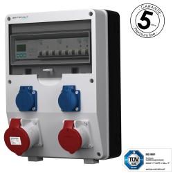 Stromverteiler pTD-S 32A 16A 2x230V 3F Zähler mit SIEMENS und MENNEKES Doktorvolt 4838