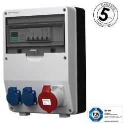 Stromverteiler pTD-S 32A 2x230V 3F Zähler mit SIEMENS und MENNEKES Doktorvolt 4791