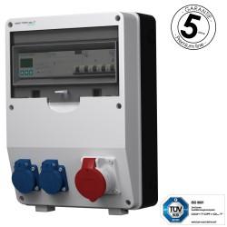 Baustromverteiler pTD-S/FI 16A 2x230V 3F Zähler mit SIEMENS und MENNEKES Doktorvolt 4784