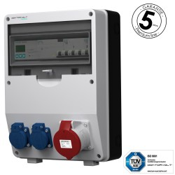 Baustromverteiler 32A 2x230V pTD-S/FI mit SIEMENS und MENNEKES Doktorvolt 4807