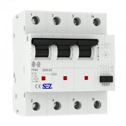 SEZ Fi-Schalter 25A 30mA 4p 10kA RCCB