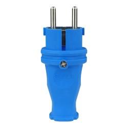 Gummistecker 16A 230V Stecker blau 5108