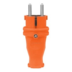 Gummistecker 16A 230V Stecker orange 5122
