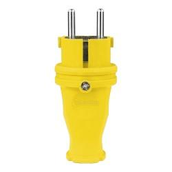Gummistecker 16A 230V Stecker gelb 5115