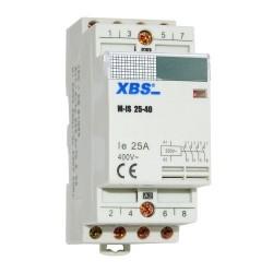 Modular Leistungsschütz Schütz 25A 4kW 230V AC 4NO 35mm DIN Montage XBS 2031