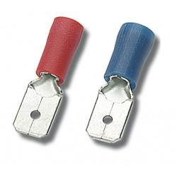 100Stk Flachstecker Kabelschutz männlich verschiedene Größe 8799 8775