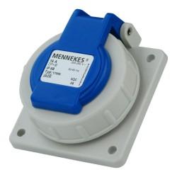 Mennekes 230V 16A IP68 Schuko Anbausteckdose mit Klappdeckel Steckdose 10808/17006 Mennekes 5398