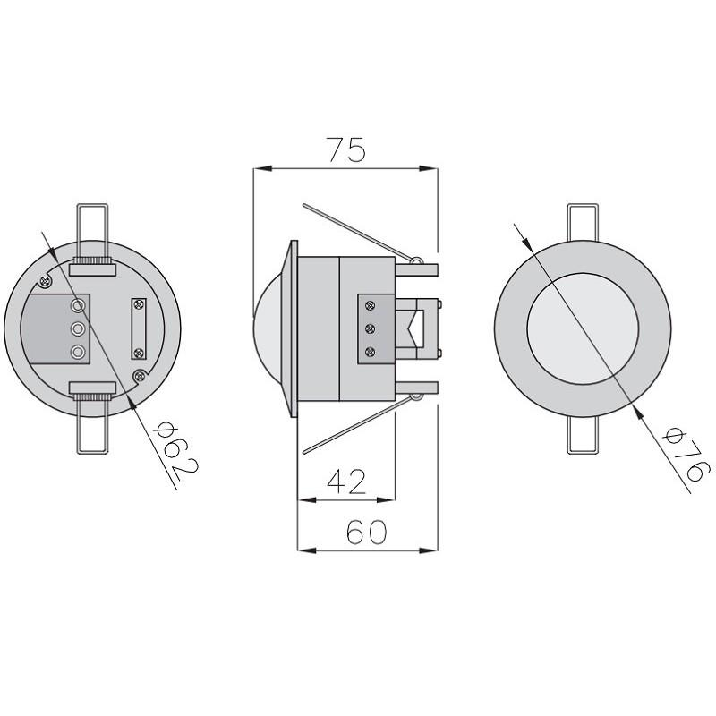 Unterputz-Bewegungsmelder CR-5 weiß 360° Einbau Infrarot UP CR-CR5000-00 8115