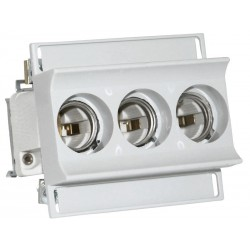 Sicherungssockel 16A D01 Gewinde E14 3-Polig