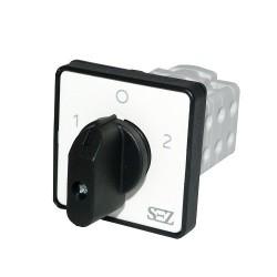 Nockenschalter Umschalter 16A 1-0-2 3-polig Drehschalter Wendeschalter 500V mit Griff S16 JD 2203 C6 SEZ