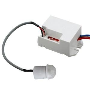 GTV Mini Bewegungsmelder CR-7 360° Sensor PIR Unterputz für LED Detector 800W