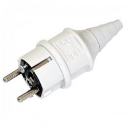 CEE Mennekes Stecker 16A 230V IP44 Schuko grau Schraubkontakt Standard Typ 10749 4780