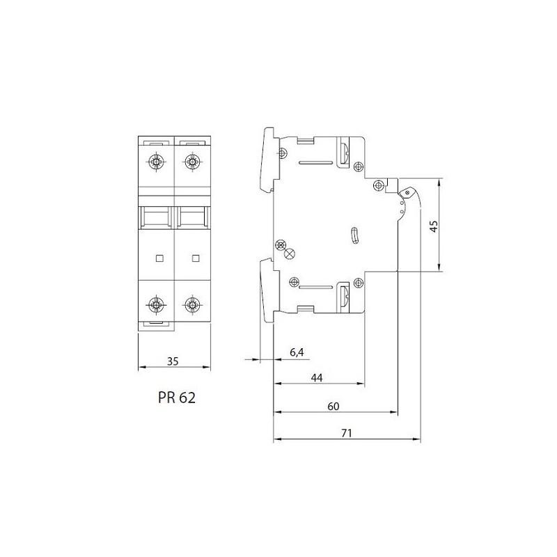 leitungsschutzschalter b10a 2p 10ka vde sicherungsautomat. Black Bedroom Furniture Sets. Home Design Ideas