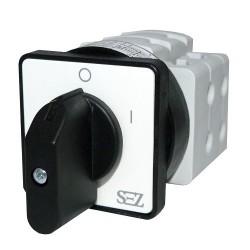 Nockenschalter Umschalter 3P 32A 0-1 ON-OFF Drehschalter Wendeschalter mit Griff S32 JD 1103 A6 SEZ
