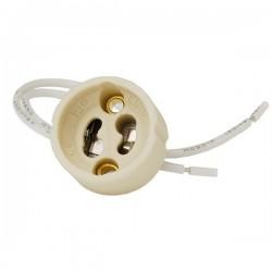 Fassungen GU10 für Halogen LED Lampe Sockel Fassung Keramik mit Kabel 0941