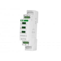 Phasenkontrolle 3x230V+N Leuchtmelder LK-713G grün 3 Phasen F&F 6004