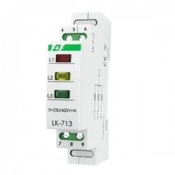 Phasenkontrolle Leuchtmelder 3 Phasen Kontrollleuchte Phasenprüfer LK-713K Signalleuchte F&F 6011