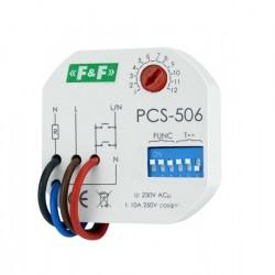 Zeitrelais Multifunktionsrelais Heizung Beleuchtung Relais mit 8-Funktionen Relay F&F PCS-506 5380