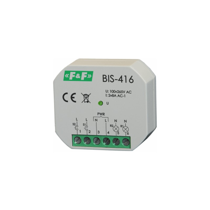 Relais mit 2 unabhängig steuerbare schaltkreise F&F