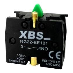 XBS Kontaktblock Hilfsschalter Kontakt Block Hilfsschaltblock Schalter 1NO 6A Schließer NG22-BE101