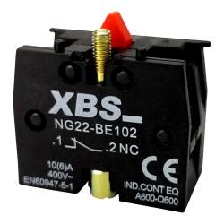 XBS Kontaktblock Hilfsschalter 1NC 6A 1Ö Hilfsschaltblock Kontakt Block Schalter NG22-BE102