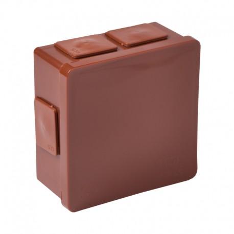 Verbindungsdose 80x80x32 m.Gummi Verschraubung gewindelos braun