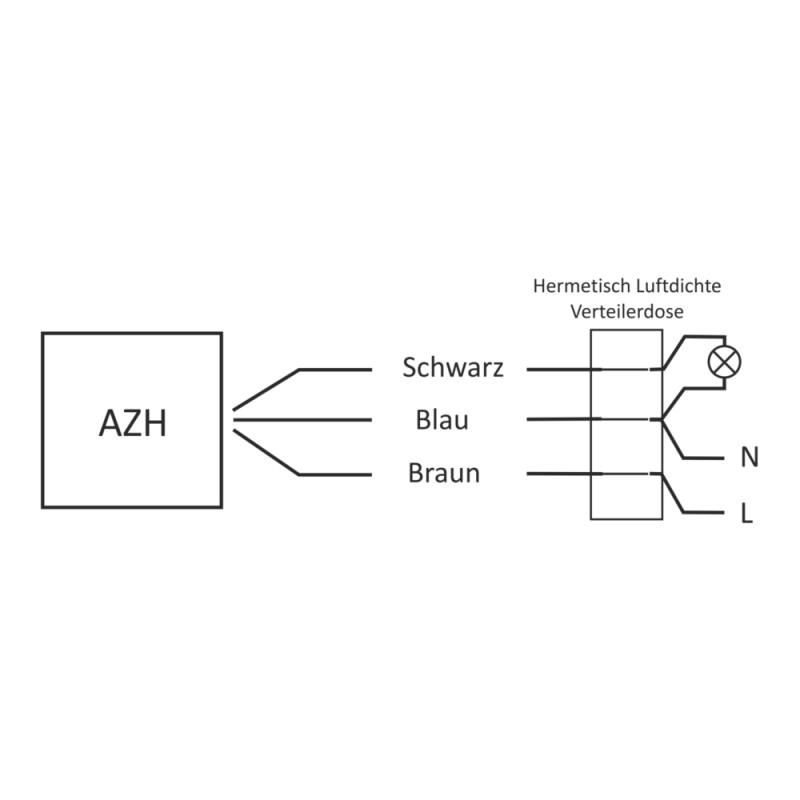 Dämmerungsschalter mit Internen Licht Sensor Lichtsensor AZH