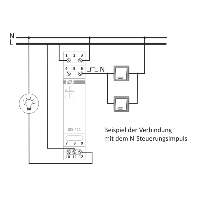 Bistabile pulse Stromstoßrelais Relais F&F BIS-411 230V