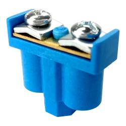 5 Stk. Doppelklemme Dosenklemmen Klemmen 2x1-4mm2 blau