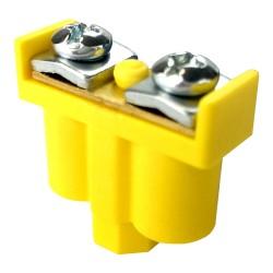 5 Stk. Doppelklemme Dosenklemmen Klemmen 2x1-4mm2 gelb-grün