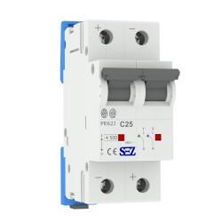 Leitungsschutzschalter C25A 2-Polig DC Photovoltaik +/- Sicherung Automat SEZ 4614