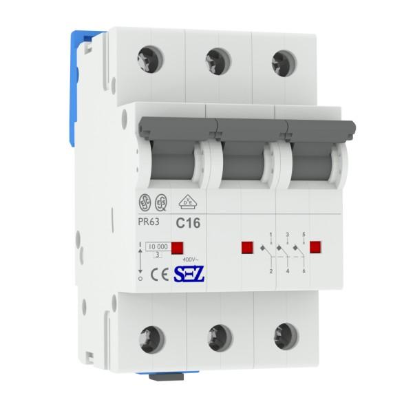 Commutateur De Protection De Ligne c16a 4 Pôle 10ka VDE sauvegarde automate LS-Interrupteur SEZ