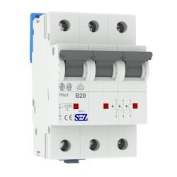 SEZ Leitungsschutzschalter B 20A 3p 10kA VDE B20A Sicherungsautomat Sicherung 0609