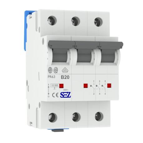 SEZ Leitungsschutzschalter B 20A 3p 10kA