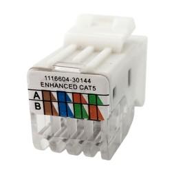 Einbaumodul Internet Modularkupplung KA11-U CAT5e RJ45 8/8 KeyStone Konnektor Netzwerk Adapter SNAP-IN TEM PD12 Einsatz 2106