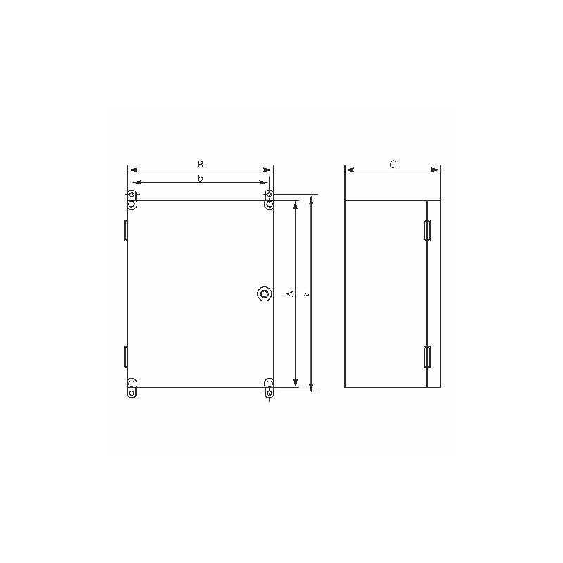 schaltschrank uni mini verteilerschrank industriegeh use schaltkasten. Black Bedroom Furniture Sets. Home Design Ideas