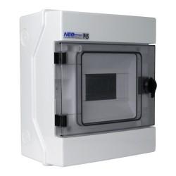 Feuchtraumverteiler Verteilerkasten Sicherungskasten Kleinverteiler 1000V RH-6 AP IP65 6 Module VDE 36.6 E-P 4002