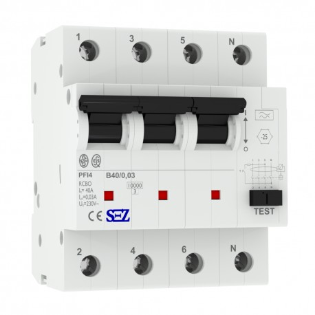 SEZ FI/LS RCBO B40 30mA 4p