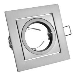 GU10 Einbaurahmen Einbauspot Quadrat schwenkbar inox