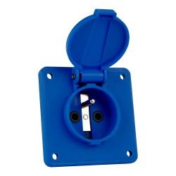 Anbausteckdose 3P 230V IP44 blau französisch System Bals 1406