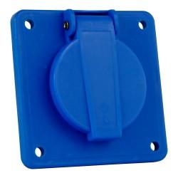 Anbausteckdose Einbausteckdose 3P 230V IP44 Schutzkontakt blau französisch/belgische System 7140 Bals 1406