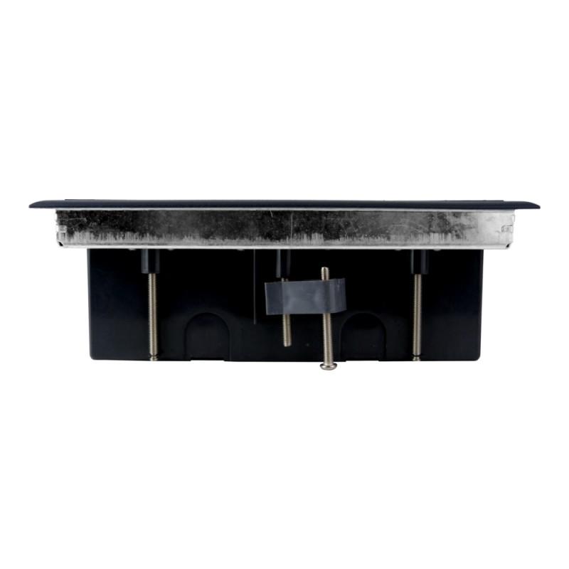 pd 12 einbausteckdose 6 fach pd12 fu bodensteckdose steckdose. Black Bedroom Furniture Sets. Home Design Ideas