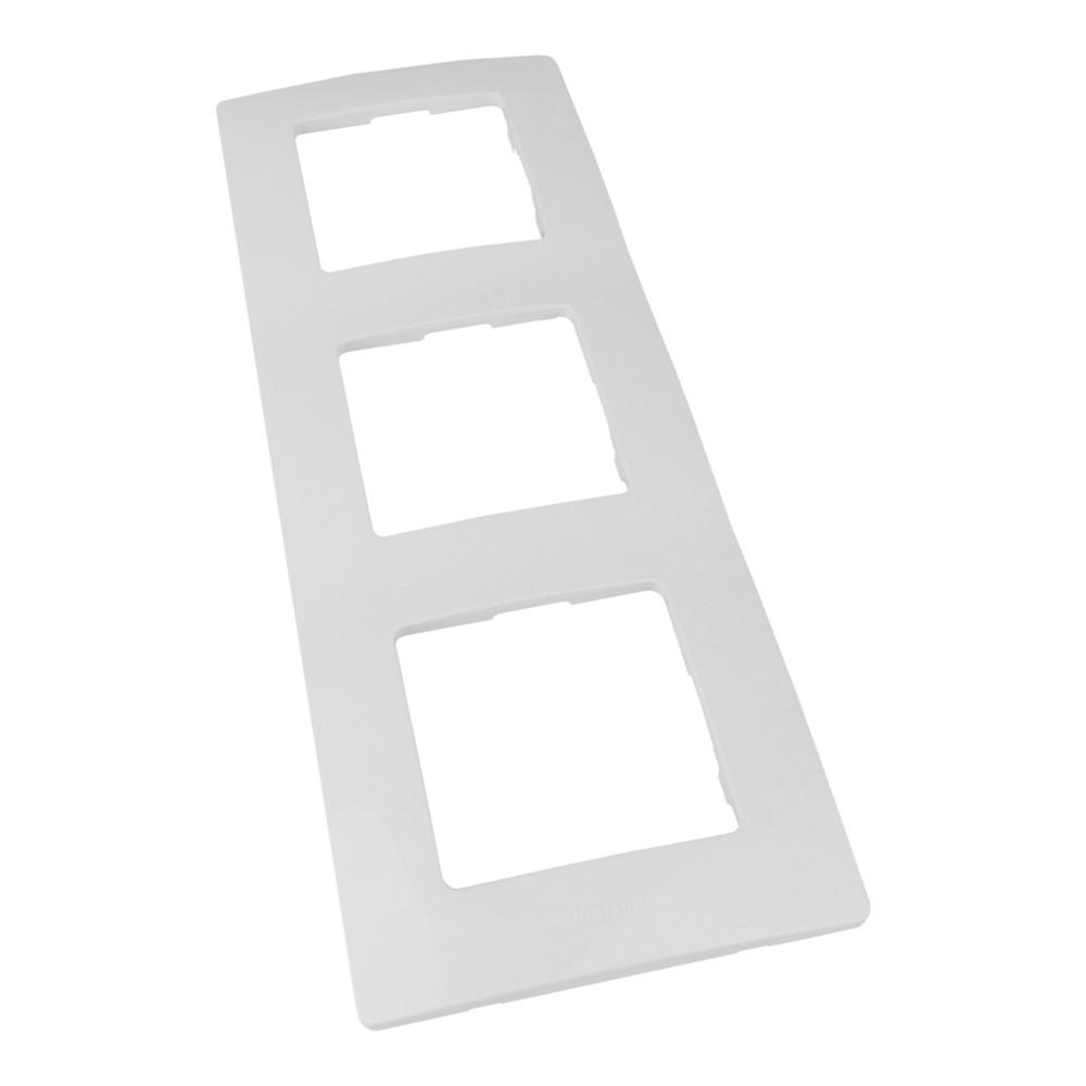 niloe 665003 abdeckrahmen 3-fach weiß 6x227 mm niloe 665003 legrand