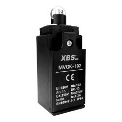 Endschalter 1NC/1NO Grenztaster Positionsschalter mit Rollendrucktaster MVGK-102 XBS 1020