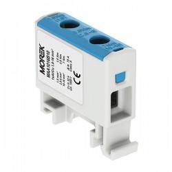 Verteilerblock f. Al/Cu geeignet 1,5-16mm2 blau Morek
