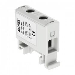 Verteilerblock f. Al/Cu geeignet 1,5-16mm2 grau Morek