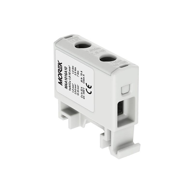 1000V AC//DC Klemme isoliert OTL 95-2 MAA2095A10 Morek 4145 Al//Cu geeignet 4x6-95mm2 grau 1pol Verteilerblock f