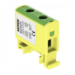 Verteilerblock f. Al/Cu geeignet 1,5-16mm2 gelb-grün Morek