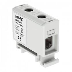 Verteilerblock f. Al/Cu geeignet 1,5-50mm2 grau Morek