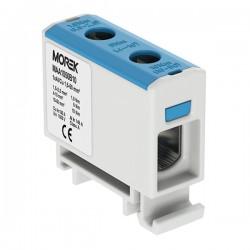 Verteilerblock f. Al/Cu geeignet 1,5-50mm2 blau Morek